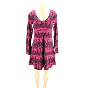 Express Womens Dress Stretch Black Pink Diamond